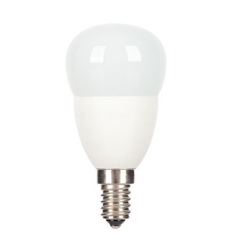 Bec LED General Electric Energy Smart™ sferic, 6W, E14, 20.000 ore, lumina calda, dimabil