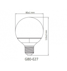 Bec LED General Electric Energy Smart™ glob, 4,5W, E27, 20.000 ore, lumina calda, dimabil