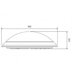 Corp de iluminat interior GE aplica/plafoniera LED, 17W, 50.000 ore, lumina rece, dimabil