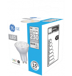 Bec LED General Electric spot, 3W, GU10, 230 lm, 15.000 ore, lumină caldă