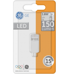 Bec LED General Electric capsulă 12V, 1.6W, G4, 150 lm, 15.000 ore, lumină caldă