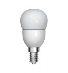 Bec LED Tungsram sferic, 4.5W, E14, 350 lm, 15.000 ore, lumină caldă
