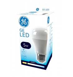 Bec LED General Electric clasic ECO, 5W, E27, 350 lm, 10.000 ore, lumină caldă