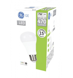 Bec LED General Electric clasic, 7W, E27, 470 lm, 15.000 ore, lumină caldă