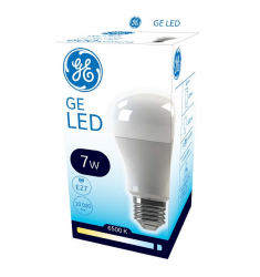Bec LED General Electric clasic ECO, 7W, E27, 600 lm, 10.000 ore, lumină rece