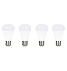 Pack 4 buc Bec LED General Electric clasic, 10W, E27, 810 lm, 25.000 ore, lumină caldă
